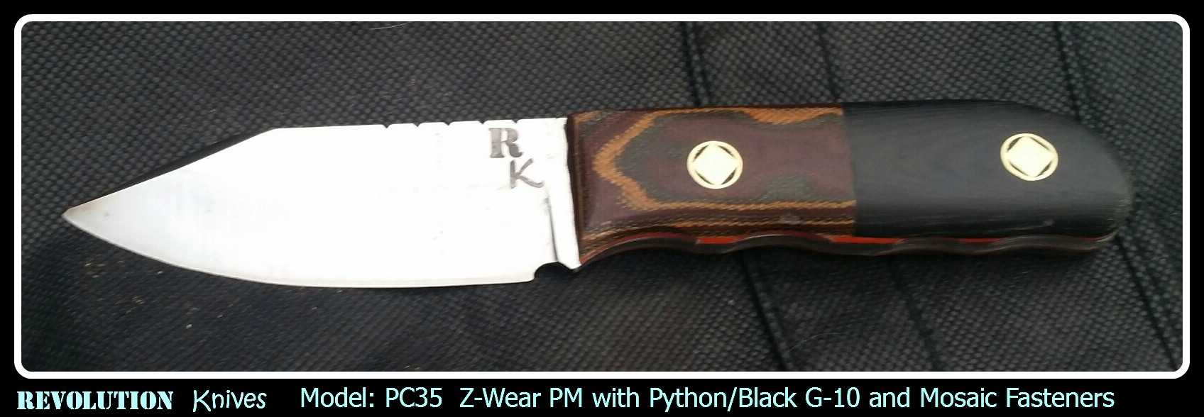 PC35  Z-Wear PM with Python/Black G-10 and Mosaic Fasteners